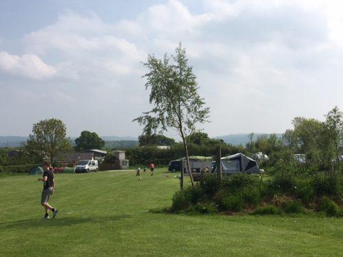 camping and football