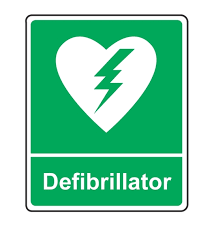 defib sign