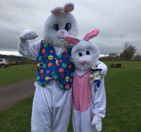 easter bunny costume - paint upright